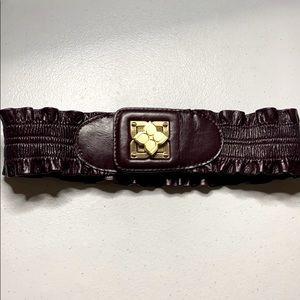 Vintage Bcbgmaxazria burgundy leather belt
